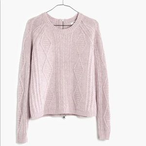 Madewell Palisade Back-Zip Sweater